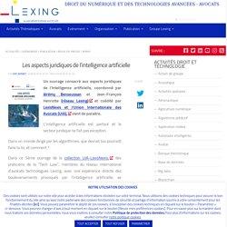 Les aspects juridiques de l'intelligence artificielle