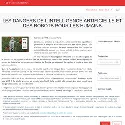 Les dangers de l'intelligence artificielle et des robots pour les humains