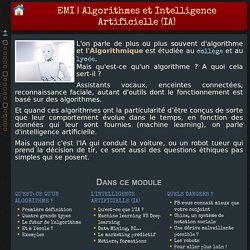 Algorithmes et Intelligence Artificielle (IA)
