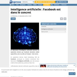 Intelligence artificielle : Facebook est dans le concret