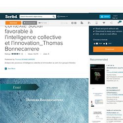 Comment créer un contexte social favorable à l'intelligence collective et l'innovation_Thomas Bonnecarrere