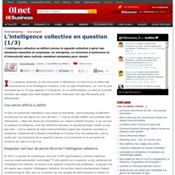 L'intelligence collective en question (1/3) par @ceciledemailly