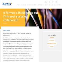 8 formes d'intelligence sur l'intranet social et collaboratif
