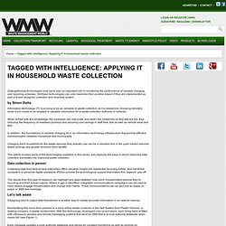 SUPER ARTICLE! Tagged with intelligence: Applying IT in household waste collection