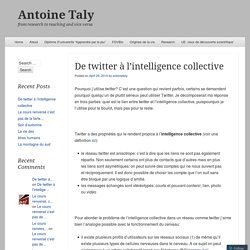 De twitter à l'intelligence collective