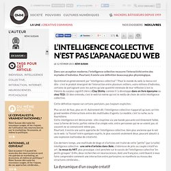 L'intelligence collective n'est pas l'apanage du web