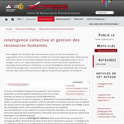 Intelligence collective et gestion des ressources humaines