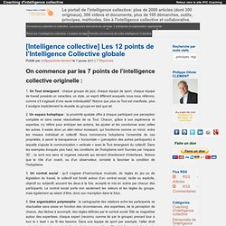 Les 12 points de l'Intelligence Collective globale