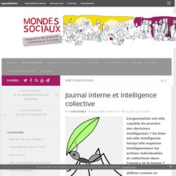 Journal interne et intelligence collective