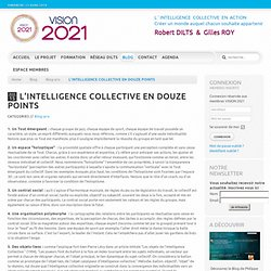 L'INTELLIGENCE COLLECTIVE EN DOUZE POINTS