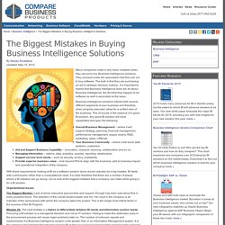 The Biggest Mistakes in Buying Business Intelligence Solutions