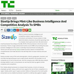 SizeUp Brings Mint-Like Business Intelligence And Competitive Analysis To SMBs