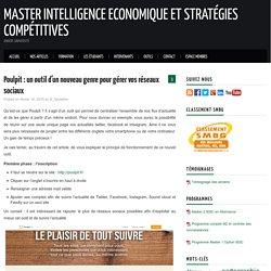 Poulpit : un outil d'un nouveau genre pour gérer vos réseaux sociaux – Master Intelligence Economique et Stratégies Compétitives