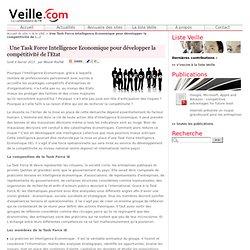 Une Task Force Intelligence Economique pour développer la compétitivité de l'Etat