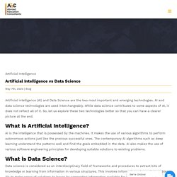 Artificial Intelligence vs Data Science - Abroad Education Consultants