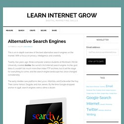 Best #search engines @KngineSearch @stephen_wolfram @yegg @disconnectme @answerthepublic
