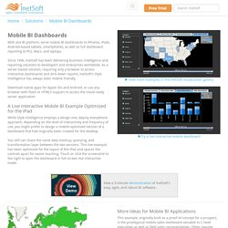 Mobile Business Intelligence (BI) Dashboards
