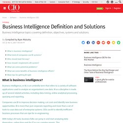 Business Intelligence Definition and Solutions