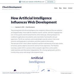 How Artificial Intelligence Influences Web Development – 1Touch Development