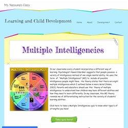 Multiple Intelligence - Learning and Child Development