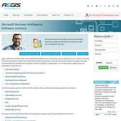 Outsource MS Business Intelligence Solutions