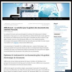 AIRS.Avocat – La solution pour la gestion des documents des cabinets d'avocats