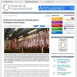 PORTAIL DE L IE 30/10/15 Sortir de la crise agricole française grâce à l'intelligence économique
