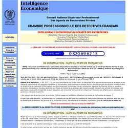 Intelligence économique - I.E. et Détective privé France