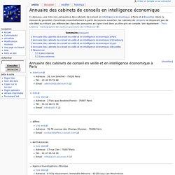 Annuaire des cabinets de conseils en intelligence économique - I