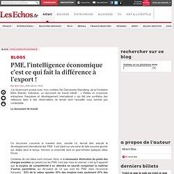 PME, l'intelligence économique c'est ce qui fait la différence à l'export!