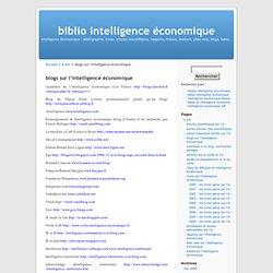 blogs sur l'intelligence économique « biblio intelligence économique