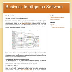 Business Intelligence Software: How to Create Effective Visuals?