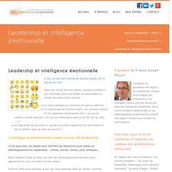 Leadership et intelligence émotionnelle