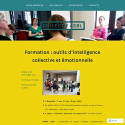Formation : outils d'intelligence collective et émotionnelle – Collect!f asbl