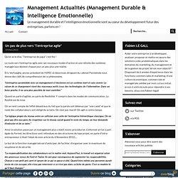 """Un pas de plus vers """"l'entreprise agile"""" - management-durable-et-intelligence-emotionnelle.overblog.com"""