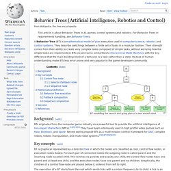 Behavior Trees (Artificial Intelligence, Robotics and Control)