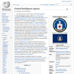 CIA activities in the Near East, North Africa, South and Southwest Asia