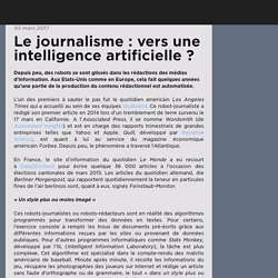 Le journalisme : vers une intelligence artificielle ?