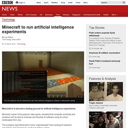 Minecraft to run artificial intelligence experiments