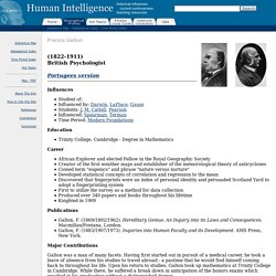 Human Intelligence: Francis Galton