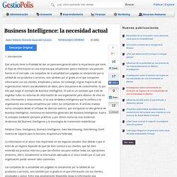 Business Intelligence: la necesidad actual