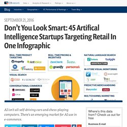 Don't You Look Smart: 45 Artifical Intelligence Startups Targeting Retail In One Infographic
