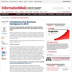 6 Predictions For Business Intelligence In 2012 - Software - Business Intelligence