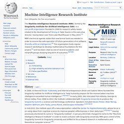 Machine Intelligence Research Institute - Wikipedia