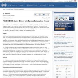 FACT SHEET: Cyber Threat Intelligence Integration Center