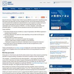 Remodeling MOOCs in 2014 - ICEF Monitor - Market intelligence for international student recruitment