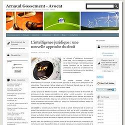 L'intelligence juridique : une nouvelle approche du droit : Blog