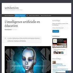 L'intelligence artificielle en éducation