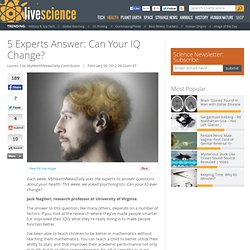 5 Experts Answer: Can Your IQ Change?