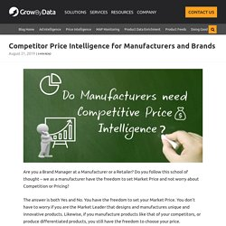 Competitor Price Intelligence for Manufacturers and Brands [3 Tool Tips]